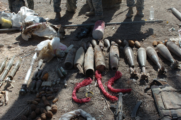 Coalition Forces net caches with material for 200 IEDs