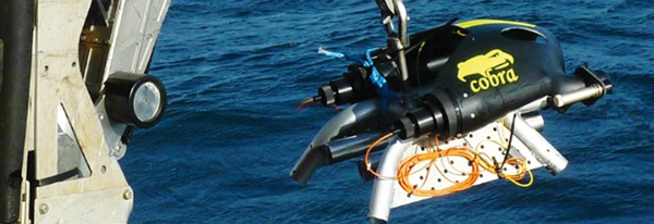 Cobra Mine Disposal System being deployed at sea. (Source: Courtesy of ECS Special Projects Ltd)